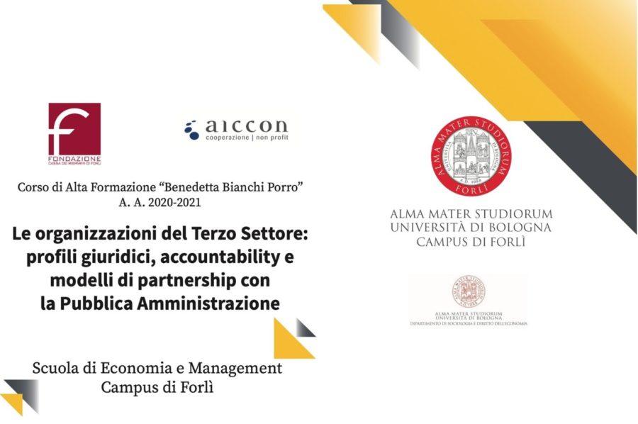 CAF: Le organizzazioni del Terzo Settore: profili giuridici, accountability e modelli di partnership con la Pubblica Amministrazione 2020/2021